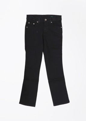 United Colors of Benetton Slim Fit Boy's Black Trousers