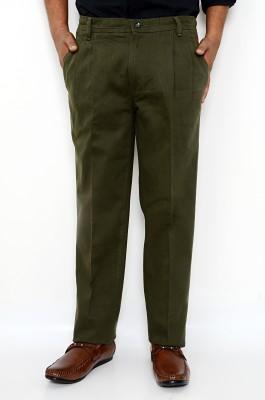 Hartmann Slim Fit Men's Dark Green Trousers