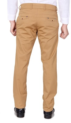 TRI-THE REAL INDIANS Slim Fit Men's Beige Trousers