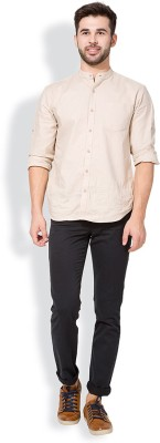 The Indian Garage Co. Slim Fit Men,s Black Trousers