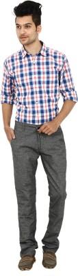 Carbon Slim Fit Mens Grey Trousers