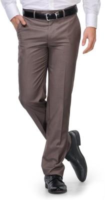 Leonardi Slim Fit Men's Brown Trousers