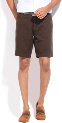 Kenneth Cole Reaction Solid Men's Brown Basic Shorts