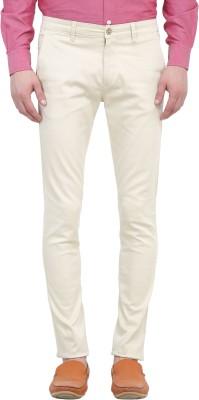 Colors Couture Slim Fit Men's Cream Trousers
