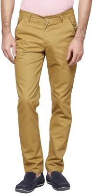 Hubberholme Slim Fit Men's Beige Trousers