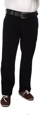 Color Plus Slim Fit Men's Black Trousers