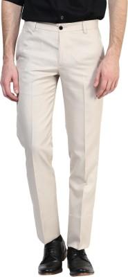 BUKKL Slim Fit Men's Beige Trousers