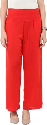Sakhi Sang Regular Fit Women's Red Trousers