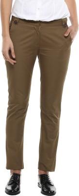 MARTINI Slim Fit Women's Green Trousers