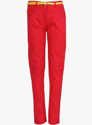 612 League Regular Fit Girl's Pink Trousers