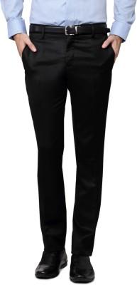 Indian Mad Regular Fit Men's Black Trousers