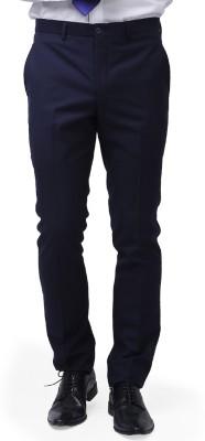 Brahaan Blue Tag Slim Fit Men's Dark Blue Trousers