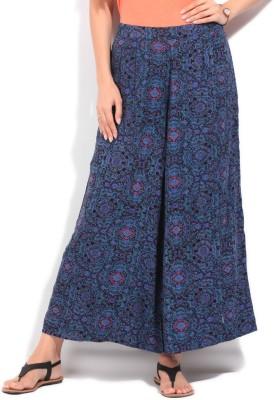 People Regular Fit Women's Black, Blue Trousers