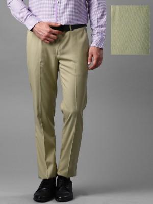 Invictus Slim Fit Men's Beige Trousers