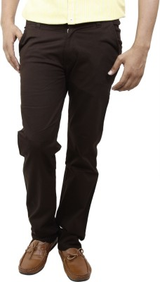 BlueTeazzers Skinny Fit Men's Brown Trousers