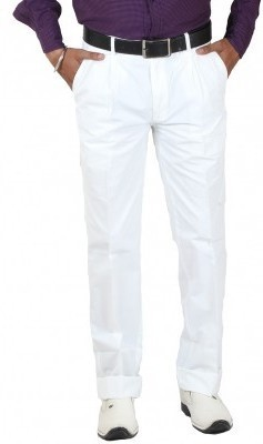 SAPPER Slim Fit Men,s White Trousers