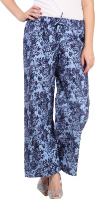 Aksara Regular Fit Women's Blue Trousers