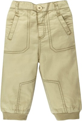 Mom & Me Regular Fit Baby Boy's Beige Trousers