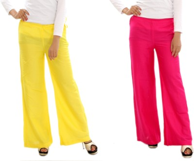 MountainColours Regular Fit Women's Yellow, Pink Trousers