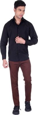 Black Sparrow Slim Fit Men's Linen Brown Trousers
