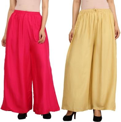 Guru Nanak Fashions Regular Fit Women's Pink, Beige Trousers