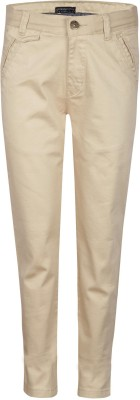 Gini & Jony Regular Fit Baby Boys Brown Trousers