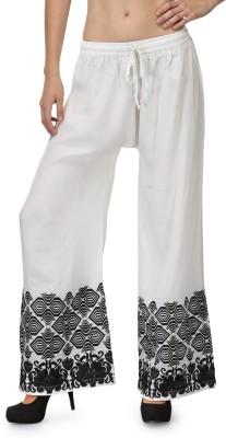 Akshiti Regular Fit Women's White, Green Trousers