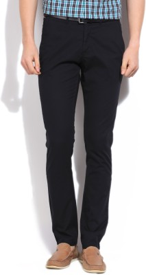 Van Heusen Sport Slim Fit Men's Black Trousers