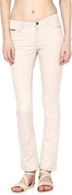 La Rochelle Slim Fit Women's Beige Trousers