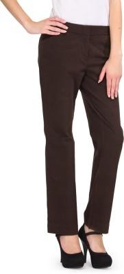 Kiosha Slim Fit Women's Brown Trousers