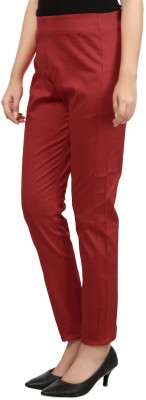 Visach Regular Fit Women's Red Trousers