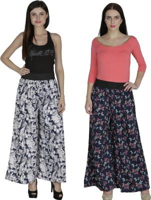 Shopingfever Regular Fit Women's White, Dark Blue Trousers