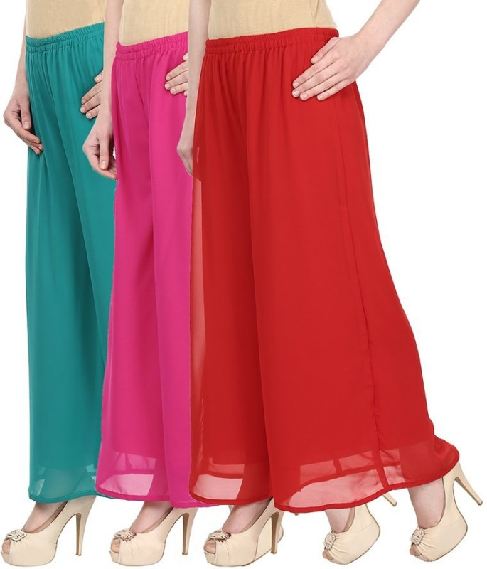 SYS Regular Fit Women's Green, Pink, Red Trousers