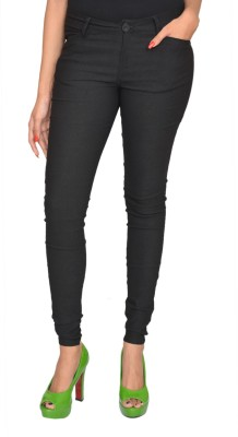 Fashion Club Slim Fit Women,s Black Trousers