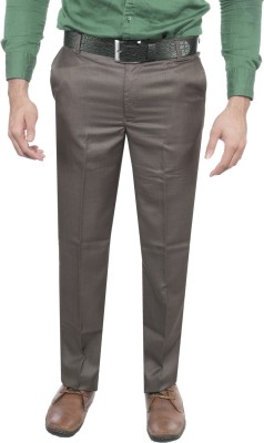 Aragon Slim Fit Men's Brown Trousers