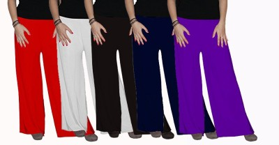 Ace Regular Fit Women's Red, Black, White, Purple, Blue Trousers