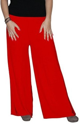 Ace Regular Fit Women's Red Trousers