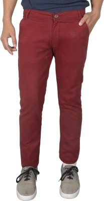 Made In The Shade Slim Fit Men's Red Trousers