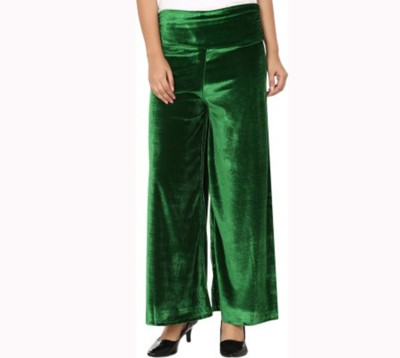 Agrima Fashion Regular Fit Women's Green Trousers