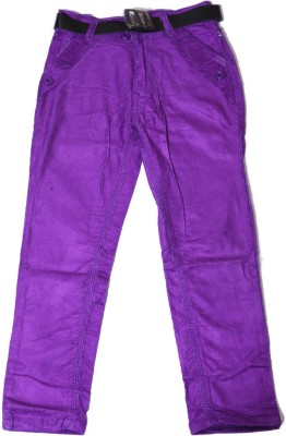 Kidicious Slim Fit Boy's Purple Trousers