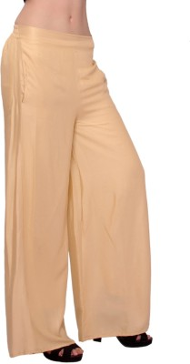 MSONS Regular Fit Women's Beige Trousers