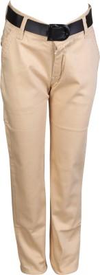Crazeis Regular Fit Boy's Beige Trousers