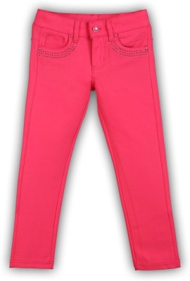 Lilliput Regular Fit Girl's Pink Trousers