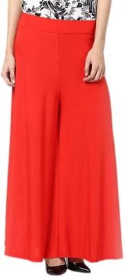 Kamakshi Krafts Regular Fit Women's Red Trousers