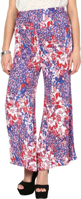 Sakhi Sang Regular Fit Women's Blue, Red Trousers