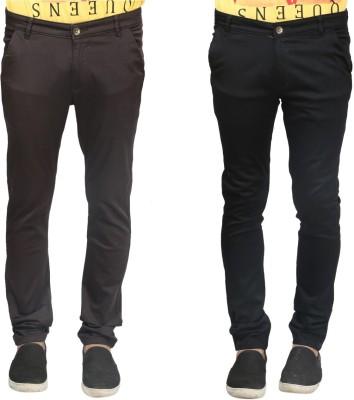 Trendy Trotters Regular Fit Men's Black, Brown Trousers