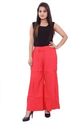 Razio Regular Fit Women's Red Trousers