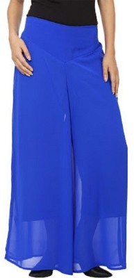 PINK SISLY Regular Fit Women's Blue Trousers