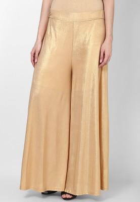 Desi Fusion Regular Fit Women's Gold Trousers