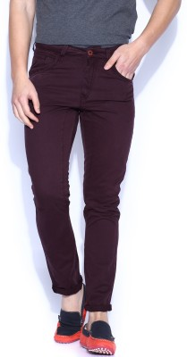 HRX by Hrithik Roshan Regular Fit Men's Pink Trousers